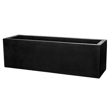Sandal Planter Box 18in High (fiberglass in black finish)