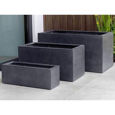 Sandal Planter Boxes (fiberglass in charcoal finish)