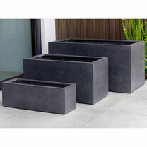 Sandal Planter Boxes (fiberglass in charcoal finish)
