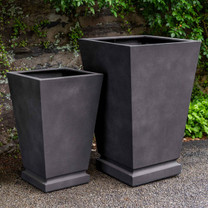 Westmere Planters (fiberglass in lead finish)