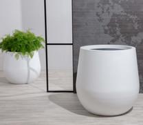 Vase Planter - ALUMINUM Linen White - Landscape