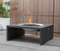 Basin Fire Pit - Landscape - ALUMINUM - Charcoal Gray Table - Linen White Bowl