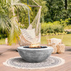 Moderno 5 Fire Bowl (glass fiber reinforced cement in pewter)