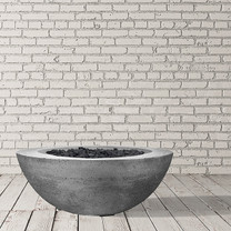 Moderno 6 Fire Bowl (glass fiber reinforced cement in pewter)