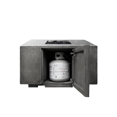 Portos 68 Fire Table w/ Enclosed Propane Unit (GFRC in pewter)