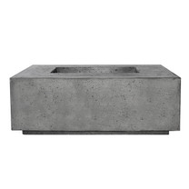 Portos 58 Fire Table w/ Enclosed Propane Unit (GFRC in pewter)