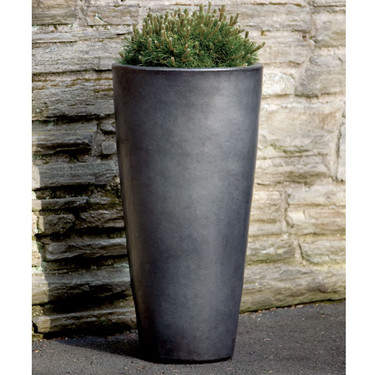 Aluan Tall Planter (glazed terracotta in graphite)