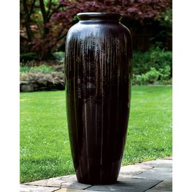 Azura Jar (Glazed Terracotta in Anthracite finish)
