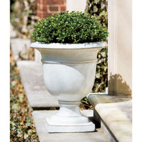 Beldon Urn (Glazed Terracotta in Antique White finish)