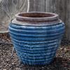 Boca Jar (Terracotta with Beachcomber Blue Glaze)