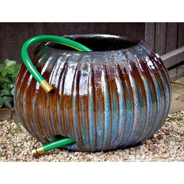 Bristow Ribbed Hose Pot (Terracotta in Art Pottery Glaze)