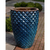 Faceted Planter (Terracotta in Rustic Blue Glaze)