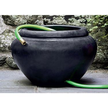 Hose Pot with Lip (Terracotta in Graphite Glaze)