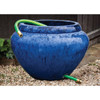 Hose Pot with Lip (Terracotta in Riviera Blue Glaze)