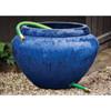 Hose Pot with Lip (Terracotta in Riviera Blue Glaze)