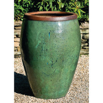 Kuro Jar (Terracotta in Rustic Green Glaze)