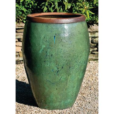 Kuro Jar (Terracotta in Rustic Green Glaze)