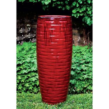 Lunas Planter (Terracotta in Mackintosh Red Glaze)