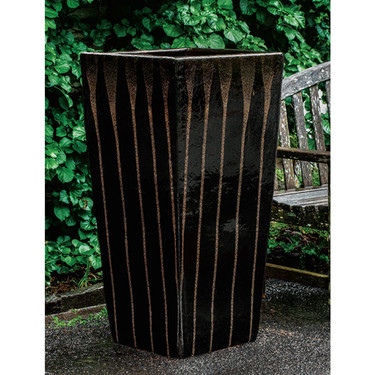 Patrizio Planter (Terracotta in Chocolate Stout Glaze)
