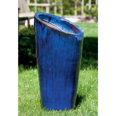 Rutillo Planter (Terracotta in Riviera Blue Glaze)