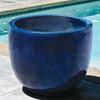 Sem Planter (Terracotta in Riviera Blue Glaze)