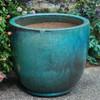 Sem Planter (Terracotta in Weathered Copper Glaze)