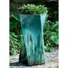 Soleil Planter (Terracotta in Falling Jade Glaze)