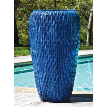 Talavera Jar Planter (Terracotta in Riviera Blue Glaze)