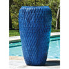 Talavera Jar Planter (Terracotta in Riviera Blue Glaze)