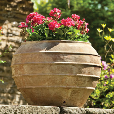 Thea Planter (Terracotta in Antico Finish)