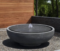 "Girona Fountain - 48""DIA x 17""H - Material : Cast Stone - Finish : Alpine Stone - FT-302"