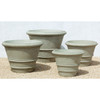 Classic Rolled Rim Planters (Glass Fiber Reinforced Concrete in Verde Finish)