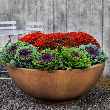 Contour Low Bowl (Glass Fiber Reinforced Concrete in Travertine Finish)
