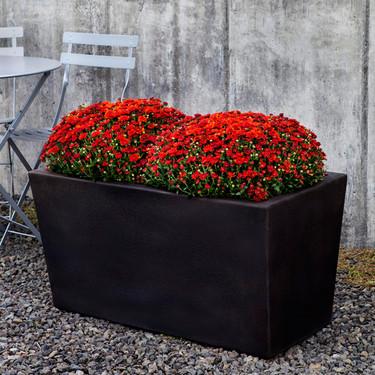 Davos Rectangle Planter (Glass Fiber Reinforced Concrete in Nero Nuovo Finish)