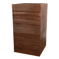 Aspen Square Tall Planter (Glass-fiber reinforced concrete in Dark Walnut finish)