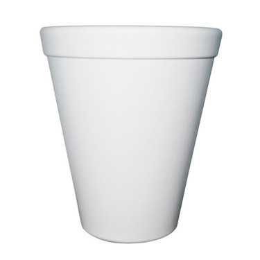 Executive Tall Planter (Glass-fiber reinforced concrete in White Solid finish)