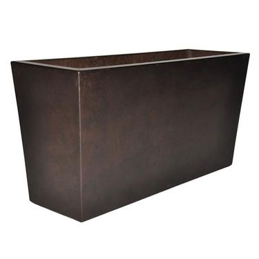 Geo Rectangle Planter (Glass-fiber reinforced concrete in Dark Walnut Perma Spec finish)