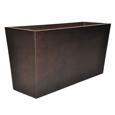 Geo Rectangle Planter (Glass-fiber reinforced concrete in Dark Walnut Perma Spec finish)