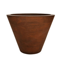Geo Round Planter (Glass-fiber reinforced concrete in Copper Metallic finish)