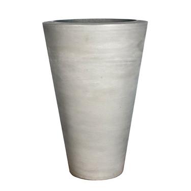Geo Round Vase Planter (Glass-fiber reinforced concrete in Cool Grey finish)