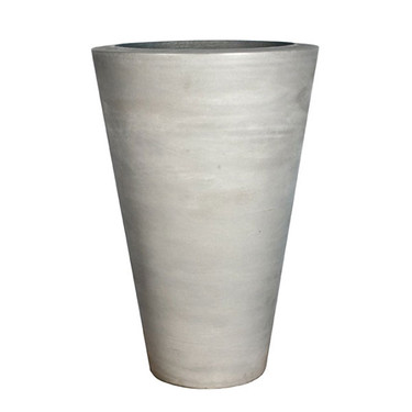 Geo Round Vase Planter (Glass-fiber reinforced concrete in Cool Grey finish)