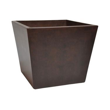 Geo Square Planter (Glass-fiber reinforced concrete in Dark Walnut Perma Spec finish)