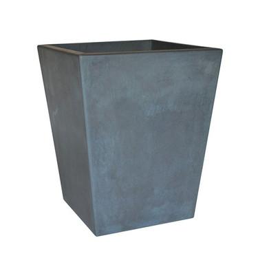 Geo Square Tall Planter (Glass-fiber reinforced concrete in English Lead Perma Spec finish)
