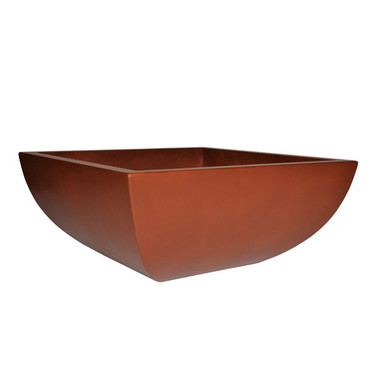 Legacy Square Low Bowl Planter (Glass-fiber reinforced concrete in Deep Amber Perma Spec finish)