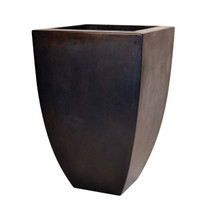 Legacy Square Planter (Glass-fiber reinforced concrete in Dark Walnut Perma Spec finish)