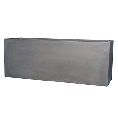 Manhattan Rectangle Low Planter (Rain Cloud Natural Concrete finish)