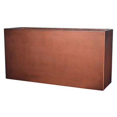 Manhattan Rectangle Planter (Copper Metallic finish)