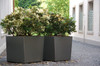 "24"" Twista Cube Planter - Material : Fiber Cement - Finish : Anthracite"