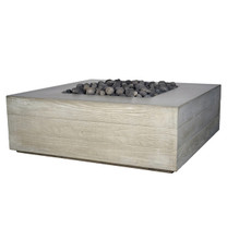 Aspen Square Fire Table (Glass-fiber reinforced concrete in Cool Grey Solid finish)