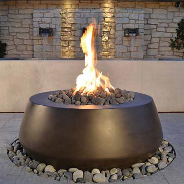 Belize Fire Table (Glass-fiber reinforced concrete in Beechwood Perma Spec finish)